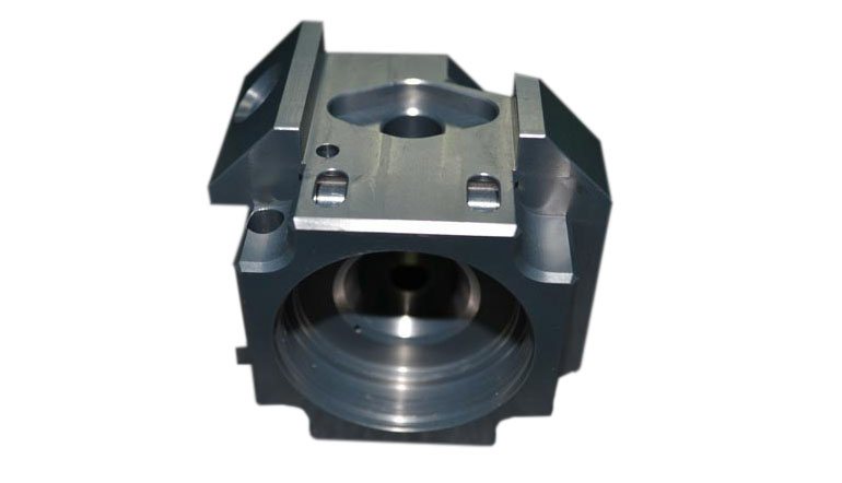 Five axis CNC processing machinery spare parts black finish on the surface of parts