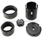 low cost cnc-CNC Precision Custom Machined Black Anodized Aluminum Parts